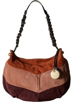 See by Chloe Maddie Hobo Multicolor Suede and Cowhide Leather Hobo Handbags