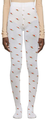 Marc Jacobs White The Pointelle Tights