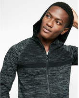 Express marled zip front athletic sweater hoodie