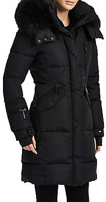 SAM. Women's Fox Fur Hood Highway Puffer Coat