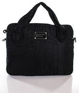 Marc by Marc Jacobs Black Canvas Crossbody Shoulder Handbag Size Medium