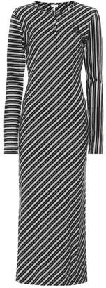 Loewe Striped stretch-cotton maxi dress