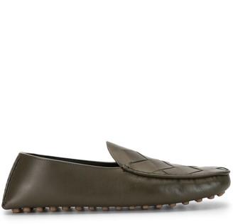 Bottega Veneta Maxi Intreccio Weave Driving Shoe