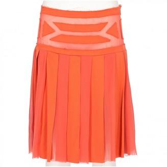 Alberta Ferretti Orange Silk Skirt for Women Vintage