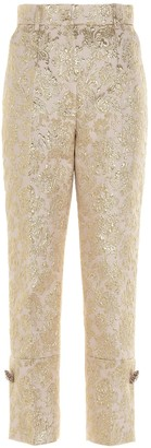 Dolce & Gabbana Floral Jacquard Cropped Trousers