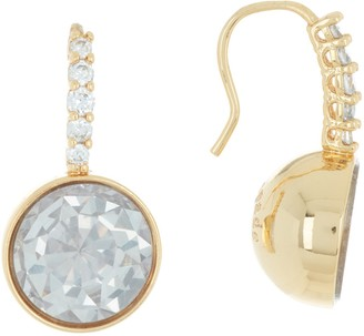 Kate Spade reflecting pool pave CZ round drop earrings