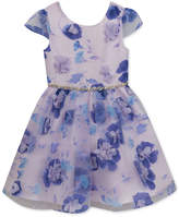 Rare Editions Floral Applique Dress, Toddler Girls, Created for Macy's