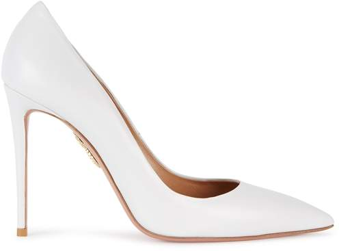 Aquazzura Simply Irresistible White Leather Pumps