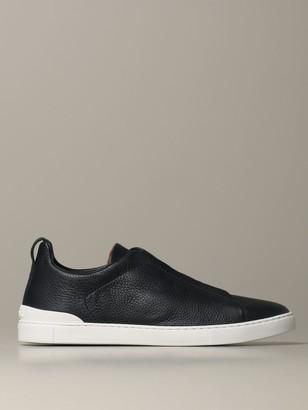 Ermenegildo Zegna Triple Stitch Light Sneakers In Deerskin