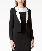 Kasper Colorblocked-Lapel Blazer