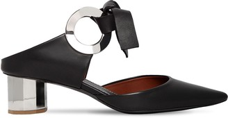 Proenza Schouler 40MM LEATHER BOW MULES