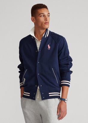 Ralph Lauren Pink Pony Fleece Baseball Jacket