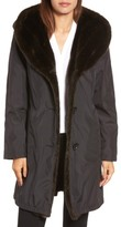 Gallery Women's Storm Coat With Faux Fur Trim & Lining