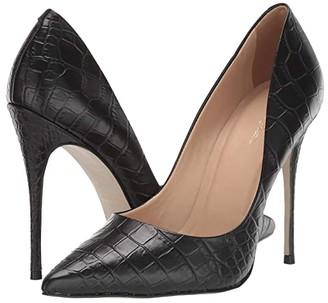 Massimo Matteo 110 mm Pointy Toe Pump (Black Crocco) Women's Shoes