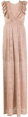 Liu Jo Metallic Sheen Knitted Dress