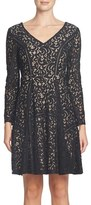 Cynthia Steffe Women's Claire Lace Fit & Flare Dress