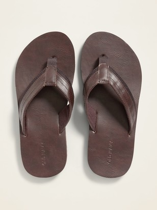 Old Navy Faux-Leather Flip-Flops for Boys