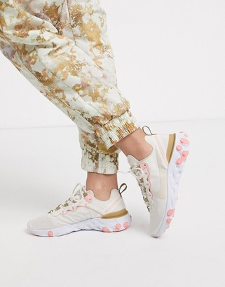 Nike Beige React Element 55 Trainers
