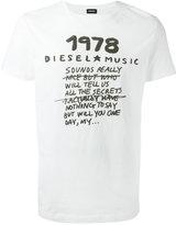 Diesel printed slogan T-shirt - men - Cotton - S