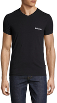 Just Cavalli V-Neck Solid T-Shirt