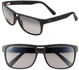 Maui Jim Men's 'Waterways - Polarizedplus2' 58Mm Sunglasses - Matte Black