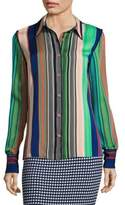Diane von Furstenberg Long Sleeve Collared Shirt