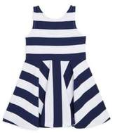Ralph Lauren Little Girl's& Girl's Striped Ponte Sleeveless Dress