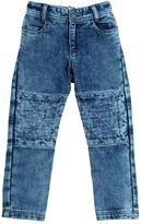 Little Marc Jacobs Bleached Denim Effect Cotton Pants