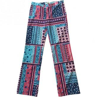 Charlotte Sparre Multicolour Silk Trousers for Women