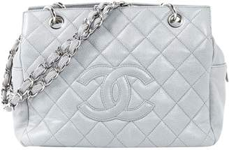 Chanel Grey Leather Handbags