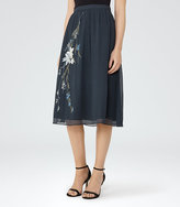 Reiss Adore Embroidered Skirt