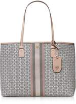 Tory Burch Coated Canvas Gemini Link Tote