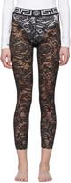 Versace Underwear Black Lace Barocco Leggings
