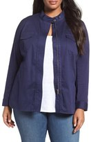 Sejour Twill Utility Jacket (Plus Size)