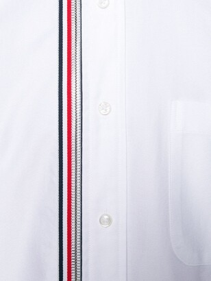 Thom Browne 4-Bar Zip-Front Oxford Shirt