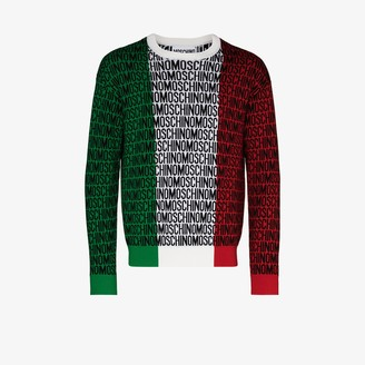 Moschino Lost & Found tricolour wool sweater