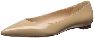 Sam Edelman Women's Sally Ballet Flat Bright White Leather 9 M US