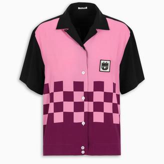 Miu Miu Black and pink bowling shirt
