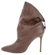 Brian Atwood Python Ankle Boots