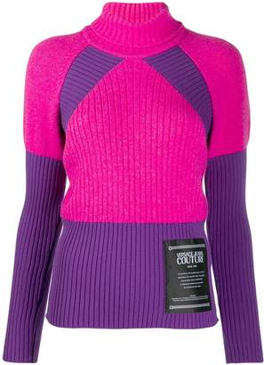 Versace ribbed knit roll-neck jumper