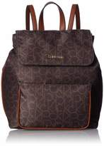 Calvin Klein Abby Nylon Flap Backpack