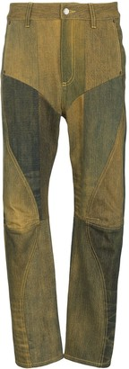 Marine Serre Ombre Patchwork Jeans