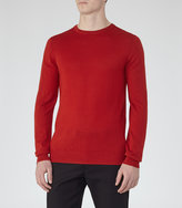 Reiss Reiss Hart - Merino Wool Jumper In Red