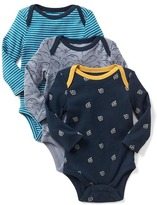 Gap Seafaring long sleeve bodysuit (3-pack)