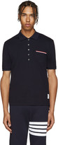 Thom Browne Navy Cotton Piqué Polo