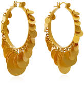 Paula Mendoza Embera Gold-Plated Brass Hoop Earrings