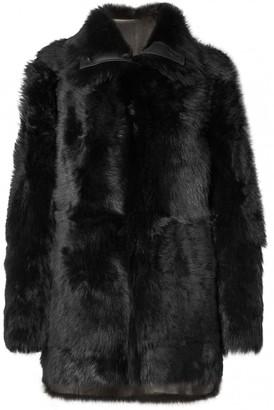 Yves Salomon \N Black Shearling Coats