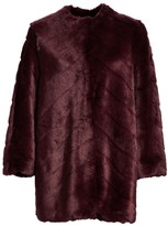 St. John Faux Mink Fur Coat