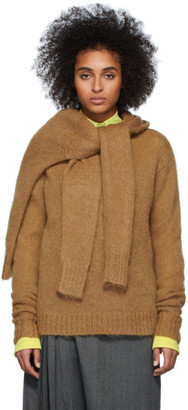 Rokh Brown Wool Crewneck Sweater