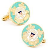 Plated US Coast Guard Cufflinks